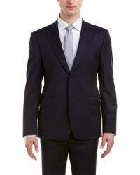 Roberto Cavalli Blue Comfort Fit Wool Suit for men