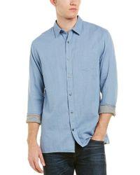Vince - Blue Square Hem Shirt for Men - Lyst