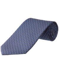 Ferragamo - Blue Navy Gancio Silk Tie for Men - Lyst