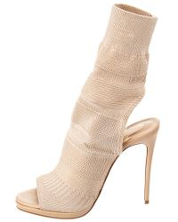 Christian Louboutin - Natural Cheminene 120 Stretch-knit Ankle Boot - Lyst