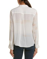 Gypsy 05 - White Crepe Blouse - Lyst