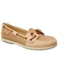 Sperry Top-Sider - Brown Women's Coil Ivy Leather Boat Shoe - Lyst