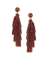 Sparkling Sage - Red 14k Plated Resin Drop Earrings - Lyst
