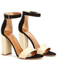 Aquatalia - Black Sasha Waterproof Leather Sandal - Lyst