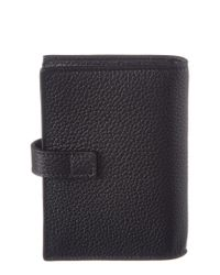 Saint Laurent - Black Sac De Jour Leather Business Card Holder for Men - Lyst