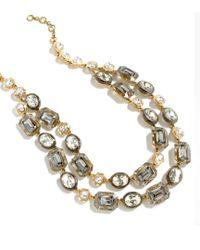 J.Crew - Metallic Plated Necklace - Lyst