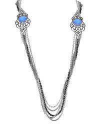 Stephen Webster Metallic Silver & Rhodium 18.50 Ct. Tw. Gemstone Necklace