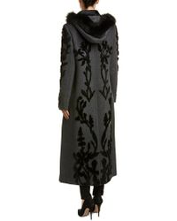 Elie Tahari - Gray Wool Coat - Lyst