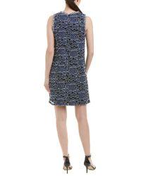Julia Jordan - Blue Embroidered Sleeveless Dress - Lyst