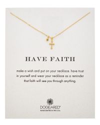 Dogeared - Metallic 14k Gold Over Silver Have Faith Necklace - Lyst