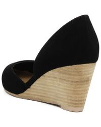 Elaine Turner - Black Lisa Suede Wedge - Lyst