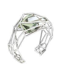 Swarovski - Metallic Crystal Plated Stainless Steel Cuff - Lyst