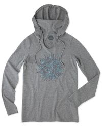 Life Is Good. - Gray ® Long Sleeve Hooded Smooth T-shirt for Men - Lyst