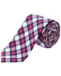 Original Penguin - Blue Plaid Tie for Men - Lyst