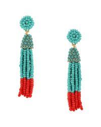 Sparkling Sage - Multicolor 14k Plated Resin Tassel Drop Earrings - Lyst