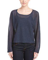 Joan Vass - Blue Sweater - Lyst