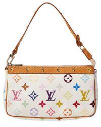 Louis Vuitton - White Monogram Multicolore Canvas Pochette Accessoires - Lyst
