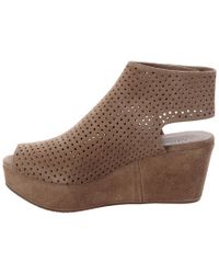 Chocolat Blu - Natural Wing Suede Wedge - Lyst