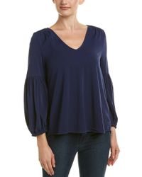 Michael Stars - Blue Peasant Blouse - Lyst