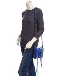 Rebecca Minkoff - Blue Mini Mac Leather Crossbody - Lyst