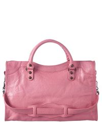 Balenciaga - Pink Small City Handbag - Lyst