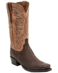 Lucchese - Brown Men's Leather Western Boot - Lyst