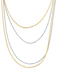 Tous - Metallic Gg Rock Gold Over Silver 37in Necklace - Lyst