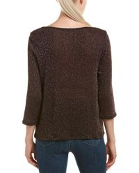 Three Dots - Purple Shimmer Sweater - Lyst