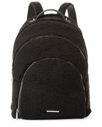 Kendall + Kylie - Black Kendall + Kylie X-large Sloane Shearling Backpack - Lyst