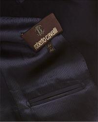 Roberto Cavalli - Black Wool Blazer for Men - Lyst