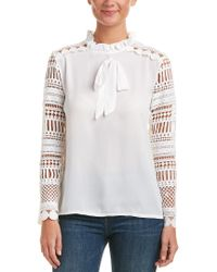 Haute Rogue - White Lace Top - Lyst