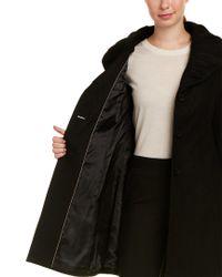 T Tahari - Black Abigail Wool-blend Coat - Lyst
