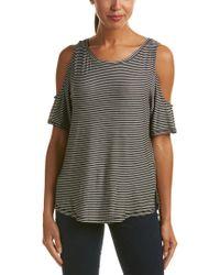 NYDJ - Black Aria Cold-shoulder T-shirt - Lyst