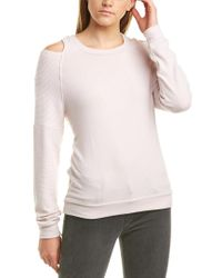 Michael Stars Pink Cold-shoulder Sweatshirt