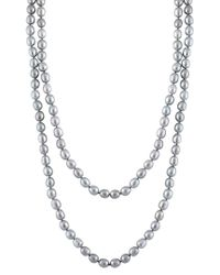Splendid - Metallic 9-10mm Freshwater Pearl 60in Necklace - Lyst
