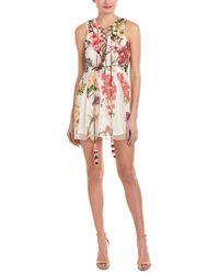 Hemant & Nandita - Multicolor Rococo Sand Floral Silk Shift Dress - Lyst