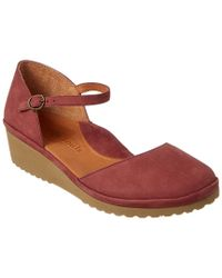 Gentle Souls - Pink Nora Mary Jane Suede Demi Wedge - Lyst