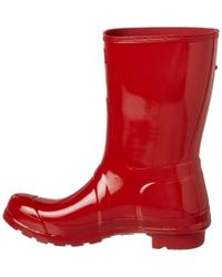 Hunter - Red Women's Original Short Gloss Boot - Lyst