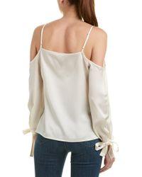 Kensie White Cold-shoulder Top