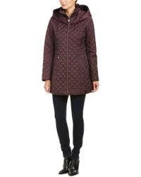 Laundry by Shelli Segal - Purple Quilted Coat - Lyst
