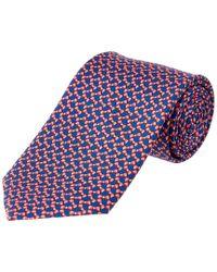 Brooks Brothers - Blue Pink Bowtie Print Silk Tie for Men - Lyst