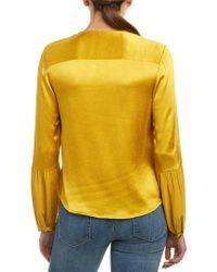 Ella Moss - Yellow Seamed Blouse - Lyst