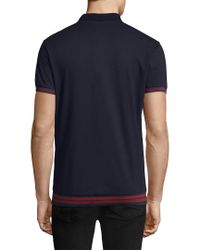 Antony Morato - Blue Ribbed Polo for Men - Lyst