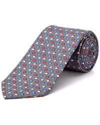 Cole Haan - Blue Grey Fishy Fishy Silk Tie for Men - Lyst