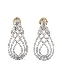 Damiani - Metallic 18k 2.17 Ct. Tw. Diamond Earrings - Lyst