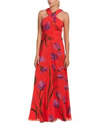 David Meister - Red Gown - Lyst