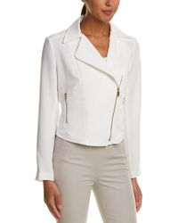 Jones New York - White Moto Jacket - Lyst