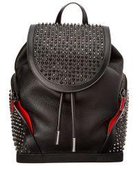 Christian Louboutin - Black Explorafunk Leather Backpack - Lyst