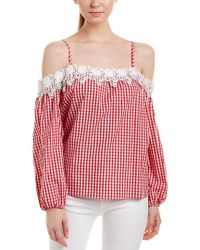 Romeo and Juliet Couture Red Gingham Top
