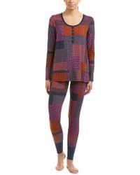 Josie Natori - Red Josie By Natori Madly Deeply 2 Pc Pajama Pant Set - Lyst